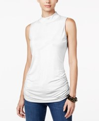 Inc International Concepts Ruched Mock Turtleneck Top Only At Macy's Bright White