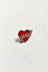 Urban Outfitters Uo I Heart Mom Pin Red