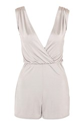 Wrap Playsuit By Oh My Love Silver