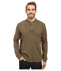 Timberland Great Brook Slub Henley Military Olive Men's Long Sleeve Pullover