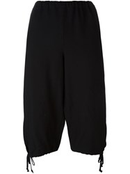 Comme Des Garcons Girl Elasticated Waist Cropped Trousers Black