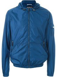 Michael Kors Zipped Hooded Jacket Blue