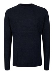 Topman Blue Navy Boucle Textured Slim Fit Sweater