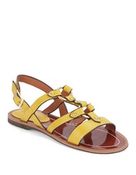Charles By Charles David Anna Leather Sandals Yellow