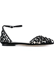 Jimmy Choo 'Davinia' Ballerinas Black