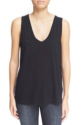 Women's Zadig And Voltaire Distressed Tank Black