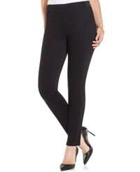 Charter Club Pull On Twill Skinny Pants Only At Macy's Deep Black