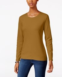 Styleandco. Style Co. Crew Neck Top Only At Macy's Salty Nut