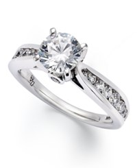 Macy's Certified Round Cut Diamond Engagement Ring In 14K White Gold 1 Ct. T.W.