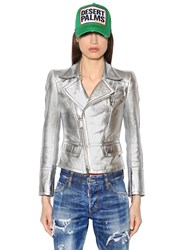 Dsquared Metallic Nappa Leather Jacket