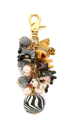 Lenora Dame Safari Bag Charm Zebra Multi