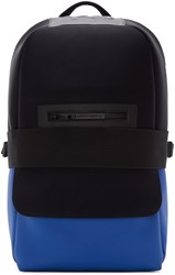 Y 3 Black And Blue Neoprene Qasa Backpack