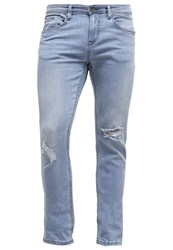 Tom Tailor Denim Culver Slim Fit Jeans Destroyed Light Stone Wash Blue