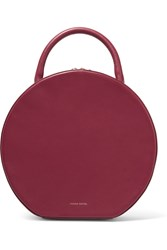 Mansur Gavriel Circle Leather Tote Burgundy