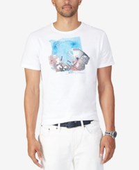 Nautica Men's Big And Tall Graphic Print T Shirt Bright White