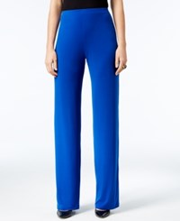 Alfani Knit Wide Leg Trousers Only At Macy's Modern Blue