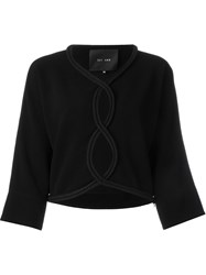Jay Ahr Rope Trim Cut Out Blouse Black