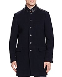The Kooples Soft Military Coat Navy