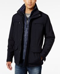 Weatherproof Vintage Men's Stand Collar Parka Only At Macy's Navy Grey