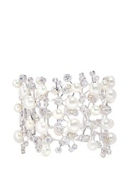 Anabela Chan 'Constellation' Diamond Pearl 18K White Gold Plated Silver Bracelet White Metallic