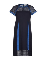 Pringle Of Scotland Short Dresses Dark Blue
