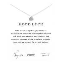 Dogeared Sterling Silver Good Luck Elephant Reminder Necklace Silver