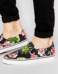 Jack And Jones Jack And Jones Surf Print Slipon Plimsoll Black