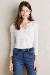 Meadow Rue Kiki Embroidered Top Ivory