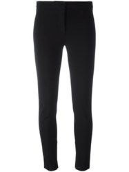 Versace Zipped Cuff Slim Trousers Black