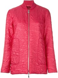 Moncler Gamme Rouge Floral Puffer Jacket Pink And Purple