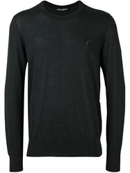 Dolce And Gabbana Bee Applique Jumper Grey