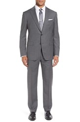 Pal Zileri Men's Classic Fit Solid Wool Suit