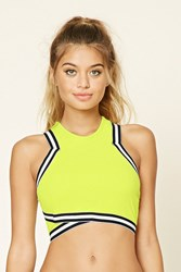 Forever 21 Stripe Trim Padded Top
