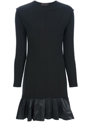 Jo No Fui Pleated Hem Dress Black