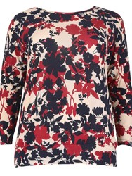 Samya Plus Size Knit Floral Top Multi Coloured