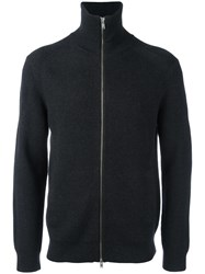 Theory Zip Up Cardigan Black