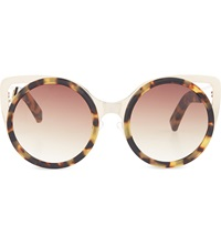 Erdem Extended Cat Eye Sunglasses Tortoiseshell