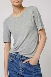 Raw Edge Tee By Boutique Grey Marl