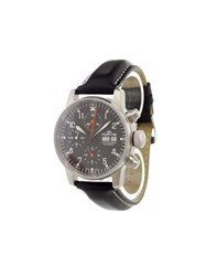 Fortis 'Flieger Chronograph Automatic' Analog Watch Stainless Steel