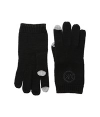 Michael Michael Kors Logo Studded Gloves With Touch Technology Black Extreme Cold Weather Gloves