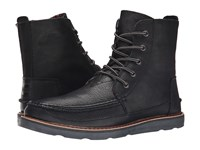 Toms Searcher Boot Black Full Grain Leather Men's Lace Up Boots