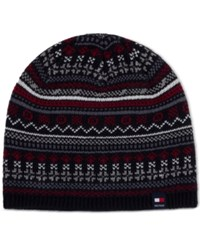 Tommy Hilfiger Men's Fair Isle Hat Navy