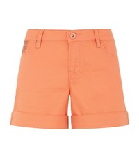 Armani Jeans Turn Up Denim Shorts Female Orange