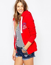 Superdry Track And Field Zip Hoody Red
