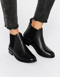 Faith Binky Leather Chelsea Boots Black Leather