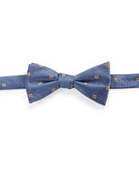 Vince Camuto Checkered Bow Tie Navy