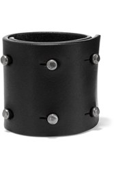 Rick Owens Studded Leather Cuff Black