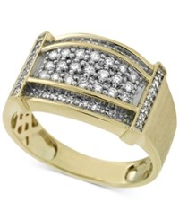 Macy's Men's Diamond Statement Ring 1 2 Ct. T.W. In 10K Gold White