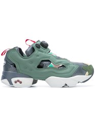 Reebok Cut Off Detailing Chunky Sneakers Green