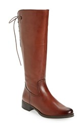 Bussola Women's 'Spring' Tall Boot Rust Leather